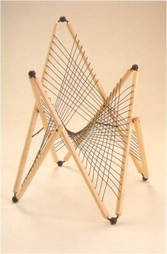 Hyperbolic Parabolid inspired chair, by Berin Nelson