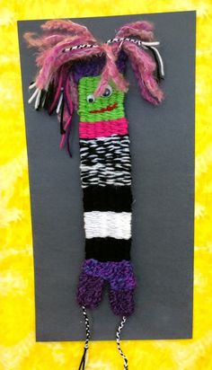 3rd Grade:  Alien Monsters!! Finished alien monster.    We use long 18 inch straws for this project.  The students starts by su...