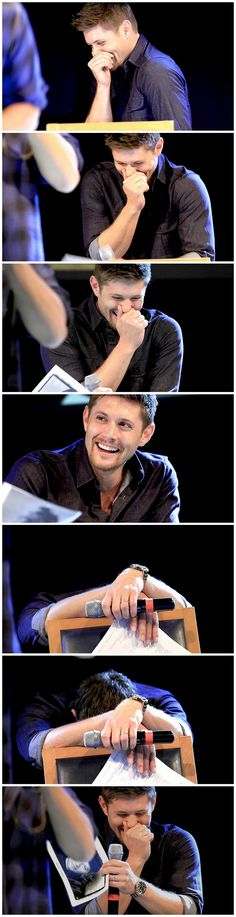 The laugh that can brighten up any room <3 #JensenAckles #Jibcon13 #ResumeWar