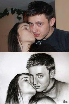 Desen după Imagine 12 - Desen în Creion de Corina Olosutean // Drawing from Picture 12 - Pencil Drawing by Corina Olosutean