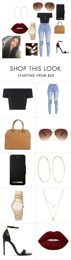 """Untitled #50"" by tannerford on Polyvore featuring Helmut Lang, MICHAEL Michael Kors, Ashley Stewart, Magda Butrym, Gucci, Botkier, Tom Ford and Lime Crime"