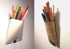 cardboard toilet paper roll pen holder