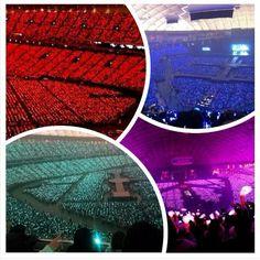 Pearl Red Ocean , Pearl Sapphire Blue ocean , Pastel Rose pink ocean , Pearl Aqua Ocean in TOKYO DOME ♥ SM DAEBAK !!!