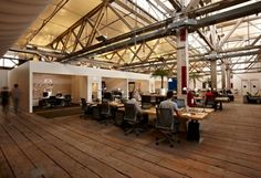 Open office with break out spaces Open Office, Best Office, Cool Office Space, Desk Space, Workspace Design, Office Workspace, Office Interior Design, Office Interiors, Office Designs