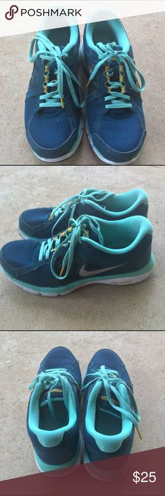 Nike running shoes Nike running shoes. Per-owned. Women's 9. I will clean them before sending them to you! Nike Shoes Athletic Shoes