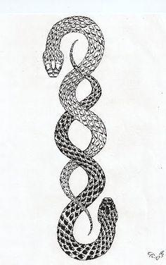 feminine snake tattoos - Google Search                                                                                                                                                     More