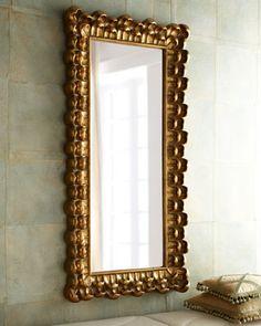 "Half bath mirror...?  ""Gold Kiana"" Mirror - Horchow"