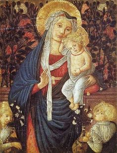 Pseudo-Pier Francesco Fiorentino (active Florence, second half of the 15th Century) Madonna and Child before a rose hedge