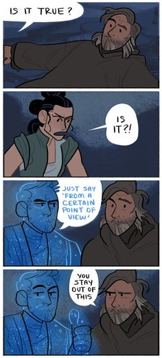 I would have loved to see Obi-Wan's force ghost in TLJ. He most likely would have said something like this, haha