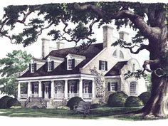 Adam - Federal House Plan with 4554 Square Feet and 4 Bedrooms(s) from Dream Home Source | House Plan Code DHSW55241