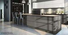 Image result for kitchen pan drawer gloss no handles
