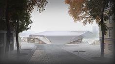 metroscapes plans belgrade gallery defined by curved terraces