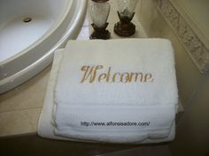 #Monogrammed #Towels mostly used for Bath, Golf, Baby do. But great way to mark marriages, celebrate move-ins and welcome new babies with very soft for skin.