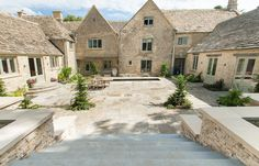 View our stunning range of Exterior Stone Paving tiles. Unique limestone paving transforms your garden and patio. Choose natural beauty with stone paving. Paving Slabs, Paving Stones, Stamford, Stone Flooring, Rustic Style, Natural Stones, Exterior, Mansions, House Styles