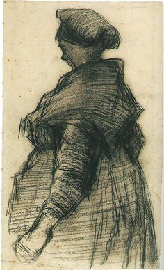 Vincent van Gogh: Woman with a Shawl, Nuenen: May-June, 1885 (Amsterdam, Van Gogh Museum)