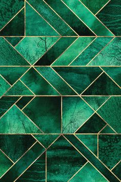 Abstract Nature - Emerald Green Canvas... | Elisabeth Fredriksson | iCanvas