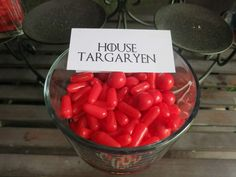 Candy Bar: House Targaryen = red hots | Epic Game of Thrones Nameday Celebration | Catch My Party