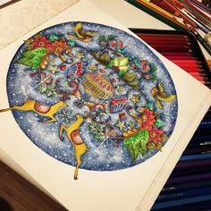 #johannabasford #johannaschristmas #boracolorirtop #divasdasartes #coloringbook