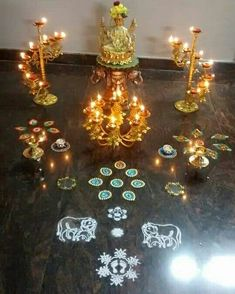 Diwali decor Rangoli Designs With Dots, Rangoli With Dots, Beautiful Rangoli Designs, Simple Rangoli, Diwali Decorations At Home, Festival Decorations, Diwali Diy, Happy Diwali, Tulasi Plant