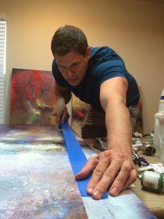 Abstract Artist Cody Hooper In His Albuquerque Art Studio.