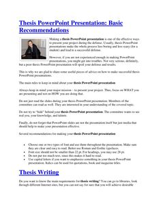 Powerpoint presentation master thesis