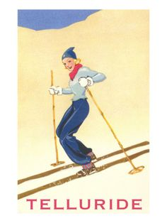 another cute vintage ski poster -- Lake Tahoe! Vintage Ski Posters, Retro Poster, Swiss Ski, Ski Girl, Girl Posters, Sports Posters, Vintage Winter, Winter Fun, Winter Snow