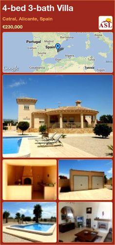 4-bed 3-bath Villa in Catral, Alicante, Spain ►€230,000 #PropertyForSaleInSpain