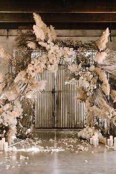 The Biggest Wedding Trends In 2020 ★ wedding trends pampas grass wedding arch