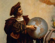Esta imagen es importante porque esta diciendo que Cristóbal Colón fue el que descubrió  América