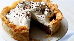 Watch Martha Stewart's Chocolate Mousse Pie with a Phyllo Crust Video. Get more step-by-step instructions and how to's from Martha Stewart.