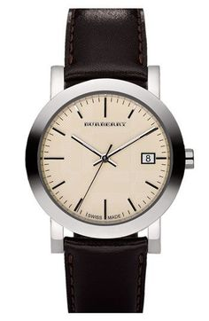 Burberry Men's Leather Watch $295