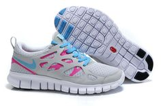Nike Free 2 Light Grey Pink Turquoise Women Shoes Sale: $83.21