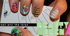 Lorax nail art...