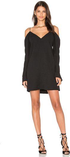 C/MEO Cold Shoulder Long Sleeve Dress