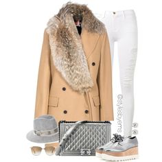 A fashion look from January 2016 by stylesbyems featuring MSGM, Frame Denim, STELLA McCARTNEY, Oliver Peoples, rag & bone, Chanel, women's clothing, women's fas...