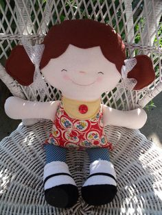 rag doll - This is Lucy. I created her using a pattern from Sugar Pudin