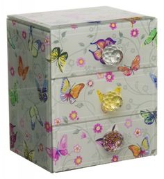 Amelie Butterfly Glass Jewellery Box