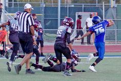 The penultimate game of the season for the 14U Davis Junior Blue Devils against Natomas started off fast and furiously and ended with a 38-6 Davis decision. Runs by Ryan Jaramillo gave the locals a first-and-goal from where Jaheim Cook scored in the first two minutes. The Devil defense quickly...  http://www.davisenterprise.com/sports/youth-sports-roundup-14u-devils-roll-38-6/  #davisenterprise #Sports #B2