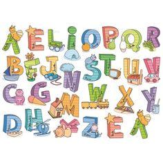 Como decorar las letras del abecedario - Imagui