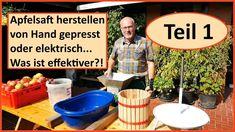 Apfelsaft selber machen - was ist effektiver? TEIL 1 / Obstpresse vs. En...