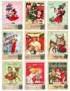 ADORABLE vintage children Christmas cards.