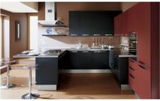 Explore the Best Mesmerizing Small Kitchen Design Ideas at Live Enhanced. Visit for more Images and take some Ideas for Small Kitchen Design. Contemporary Small Kitchens, Small Open Kitchens, Design Your Kitchen, Interior Design Kitchen, Kitchen Designs, Interior Paint, Kitchen Ideas, Minimalist Kitchen Interiors, Small Kitchen Makeovers