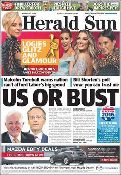 #20160509 #AUSTRALIA #AustraliaTodayNEWSpapers20160509 Monday MAY 09 2016 http://en.kiosko.net/au/2016-05-09/ <+> #MELBOURNE #HeraldSunMELBOURNE20160509 http://en.kiosko.net/au/2016-05-09/np/herald_sun.html