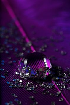 Beautiful. What a great idea with the glitter! Purple Drop by ~sjaB
