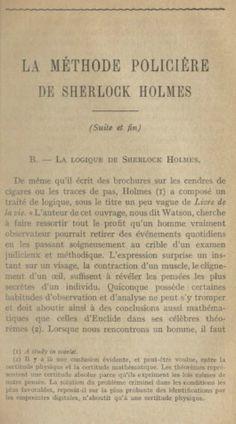 Edmond Locard - La méthode policière de Sherlock Holmes (dernière partie)