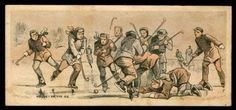 HOCKEY ON THE ICE - VINTAGE TRADE CARD -- Antique Price Guide Details Page