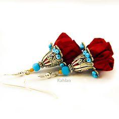 Boucles d'oreilles Gypsy. Création Les Jardins de Kahlan.