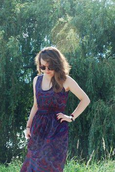 maxi dress tutorial - I love the sleeves.