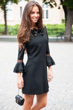 OH YES, CHIC HAPPENS #SaintLaurent #look #dress #black #bag #botd #ootd #womenswear