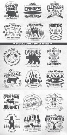 North Western Font + Vectors BUNDLE by GraphicMonkee on @creativemarket
